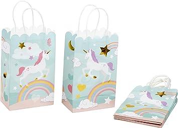 Amazon.com: Bolsa de regalo de papel – 24 unidades de bolsas ...