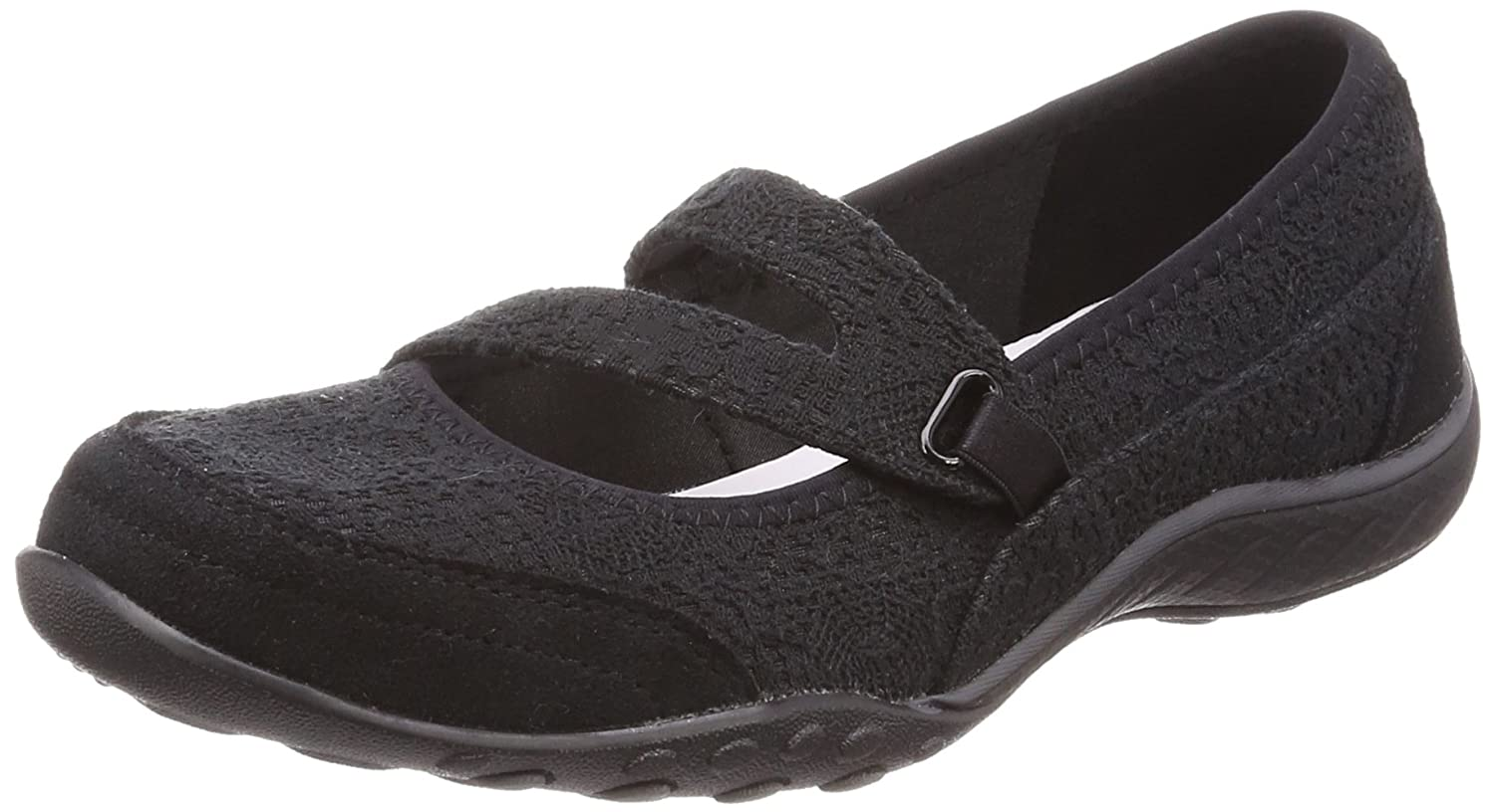 Skechers Breathe-Easy-Pretty B078YJZ8QF Swagger, Mary Skechers Janes Breathe-Easy-Pretty Femme Noir (Black) d0652ed - shopssong.space