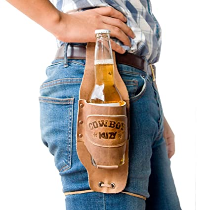 Amazon.com: Hide & Drink Cowboy Buzy - Funda para cerveza ...