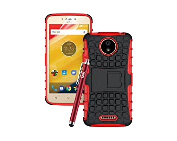 official photos e72f2 aa0df Motorola Moto C Case, Heavy Duty Armour Tough ShockProof Builder Hard Back  Case Cover With Stand For Motorola Moto C with Screen Protector & Touch ...