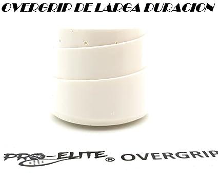 Overgrip Pro Elite Premium Liso Blanco: Amazon.es: Deportes ...