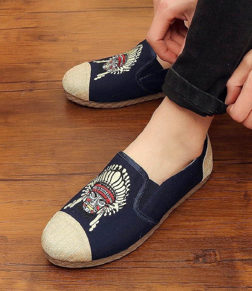 Tianrui Crown Men Espadrilles Shoe Loafer Oxfords Flat Shoe