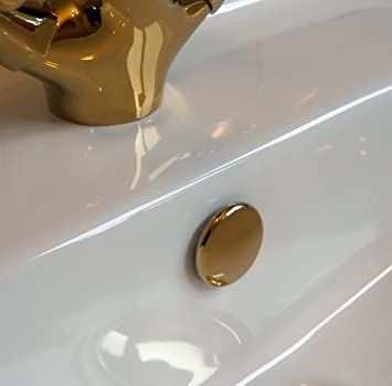Superb Quality TROVE HOUSE BRAND Bathroom Sink Basin Overflow Cover Tokyo  Insert In Gold Colour Finish