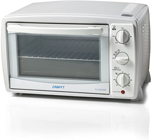 Crafft 1348-CMH20LGX Mini horno de 20 litros, 1500 W