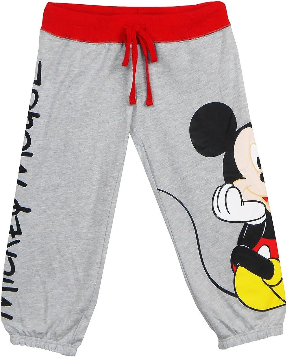 Disney Mickey Mouse Woman Pajama Capri Pant Red White