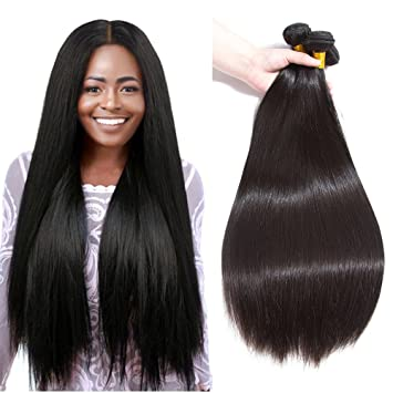 Amazon Com Lumei 8a Brazilian Hair 3 Bundles Straight 8 10 12
