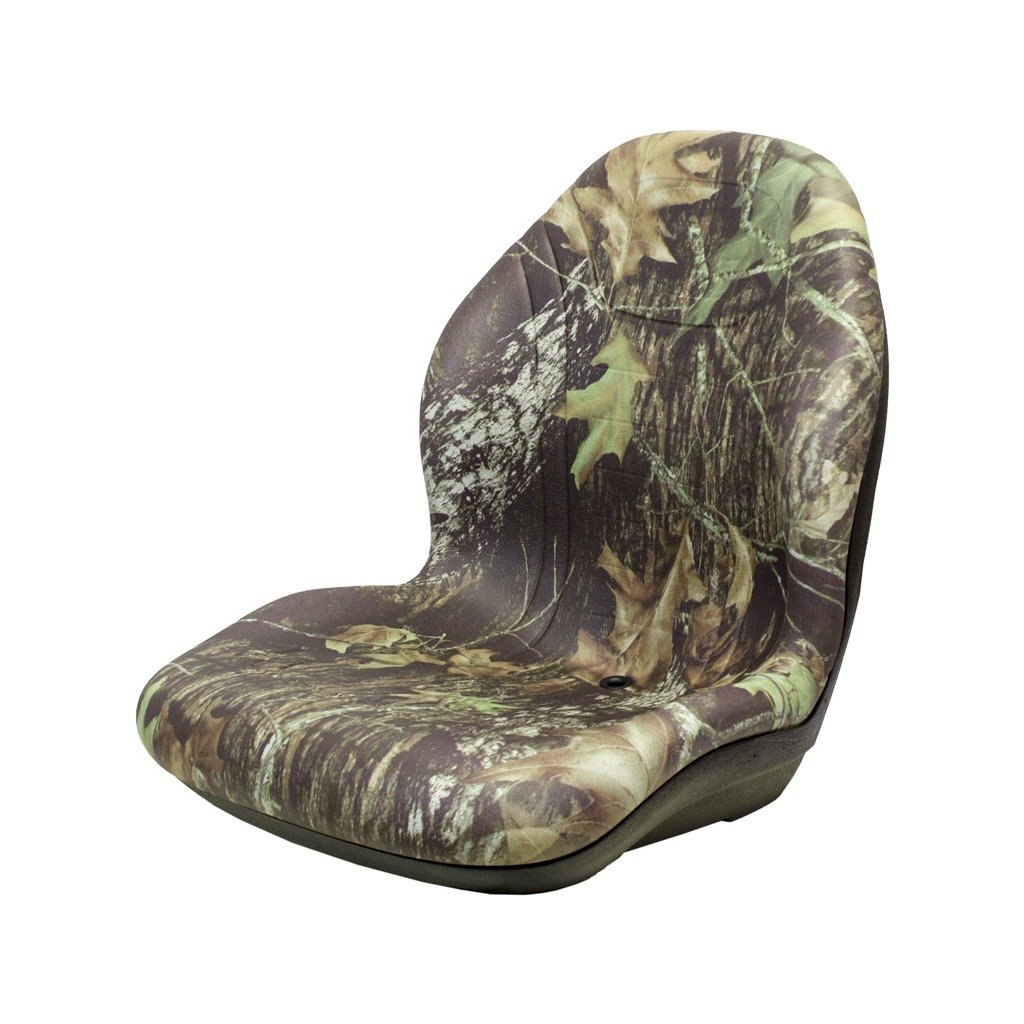 K&M Manufacturing 6802 JD 129 UNI PRO Bucket Seat with Hinge Bracket, Camo Vinyl