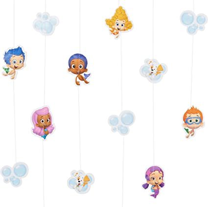Party Game Swirls Bubble Guppies Jumbo Letter Banner Kit Honeycombs