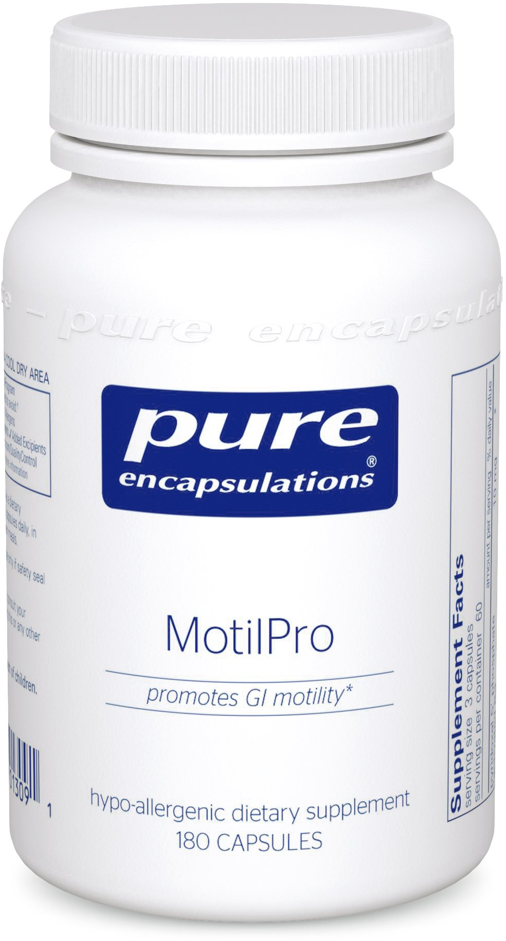 Pure Encapsulations - MotilPro - Hypoallergenic Dietary Supplement to Promote Healthy Gut Motility* - 180 Capsules