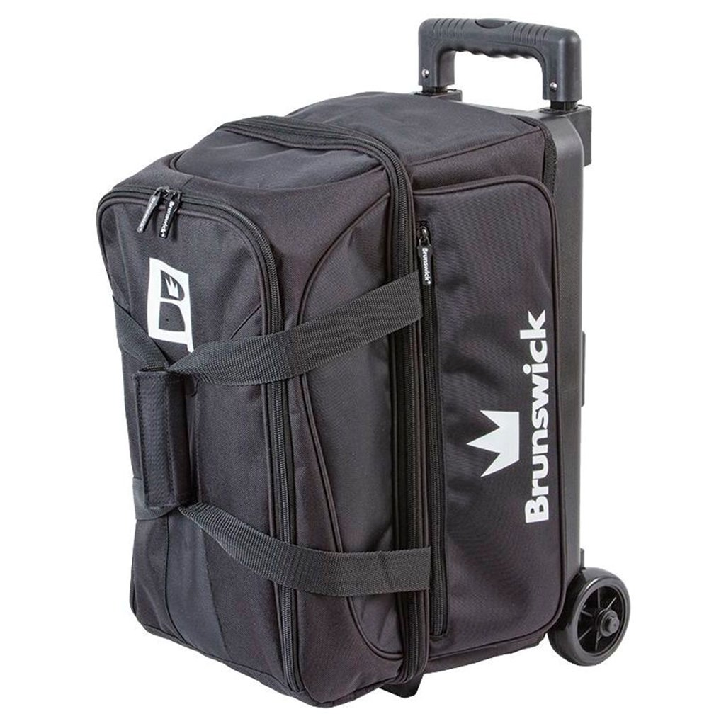Brunswick Blitz Double Roller Bowling Bag, Black by Brunswick