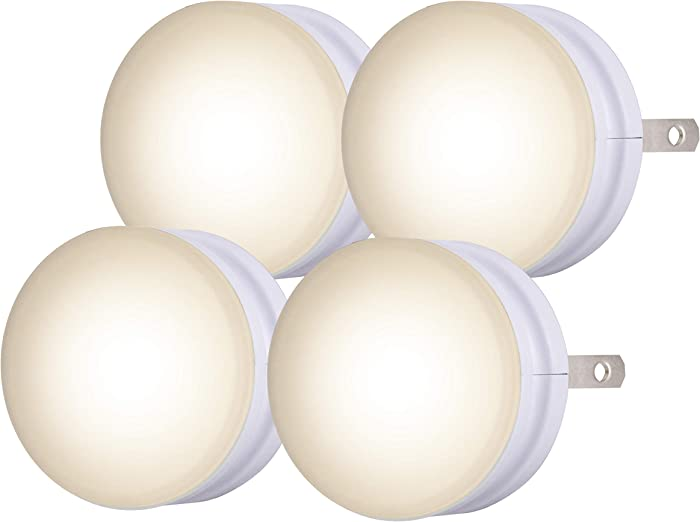 Lights by Night Honeywell Mini LED Night Light, 4 Pack, Plug-in, Dusk to Dawn, Compact, UL-Listed, Ideal for Office, Bathroom, Bedroom, Nursery, Hallway, Kitchen, White, 45084, 4