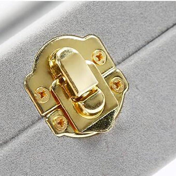 d75b0a1a773a Canank Joyero para Pendientes y Anillos Exhibición Caja Joyero Caja de  almacenamiento (purple)  Amazon.es  Hogar