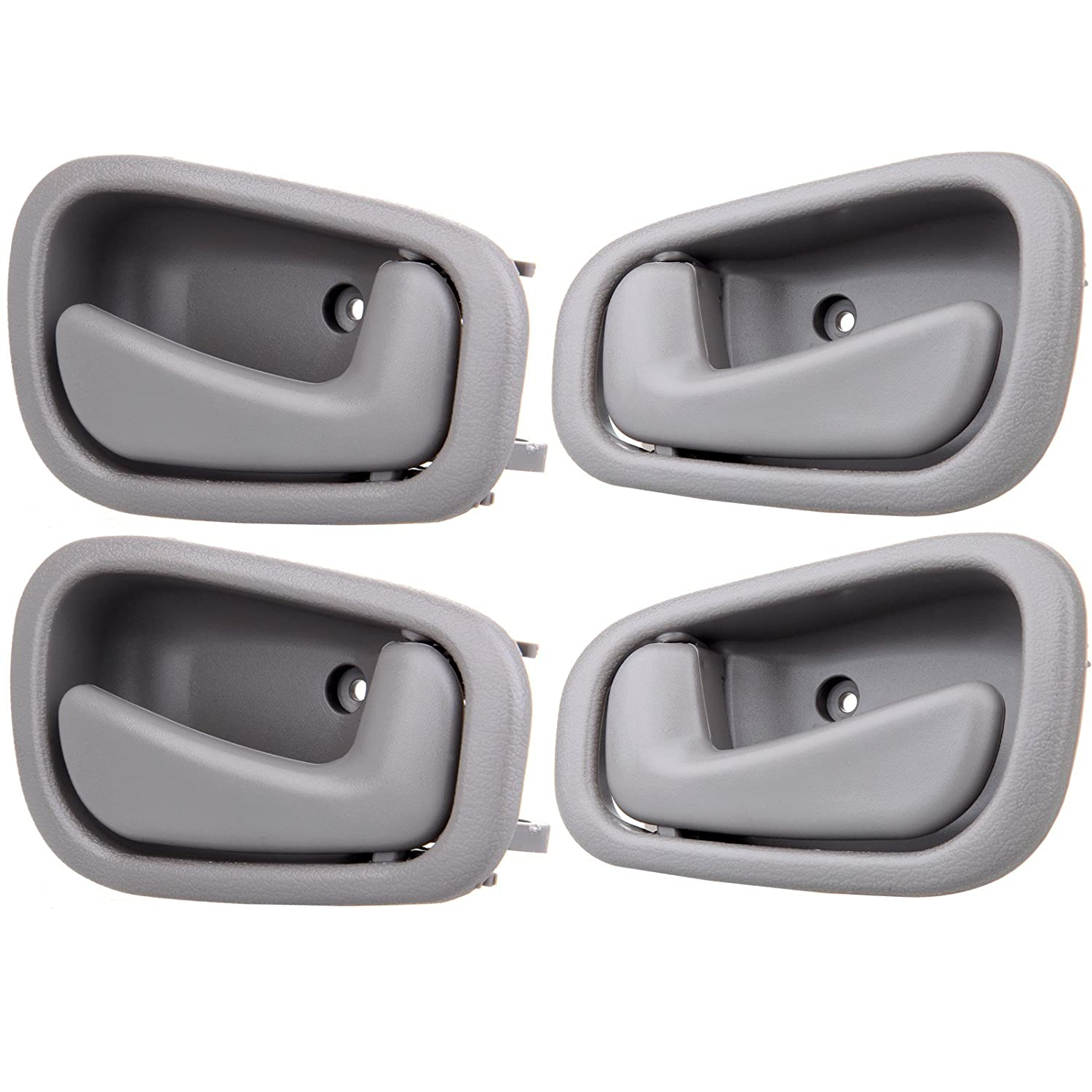 ECCPP Door Handles Interior Inside Inner Front Rear Passenger Driver side for 1998 1999 2000 2001 2002 Toyota Corolla Gray 802181-5211-1702331 4pcs