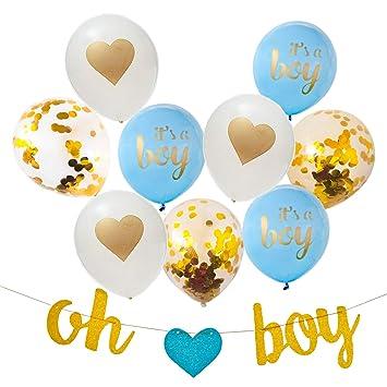 amazon com baby boy shower decorations 13 piece set includes oh
