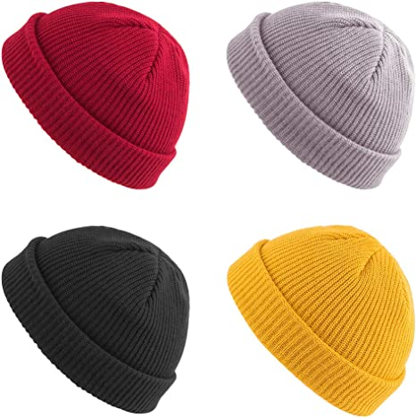 #Trawler Beanie Knitted Fishermans Hat Retro Vintage Style Ski Wooly