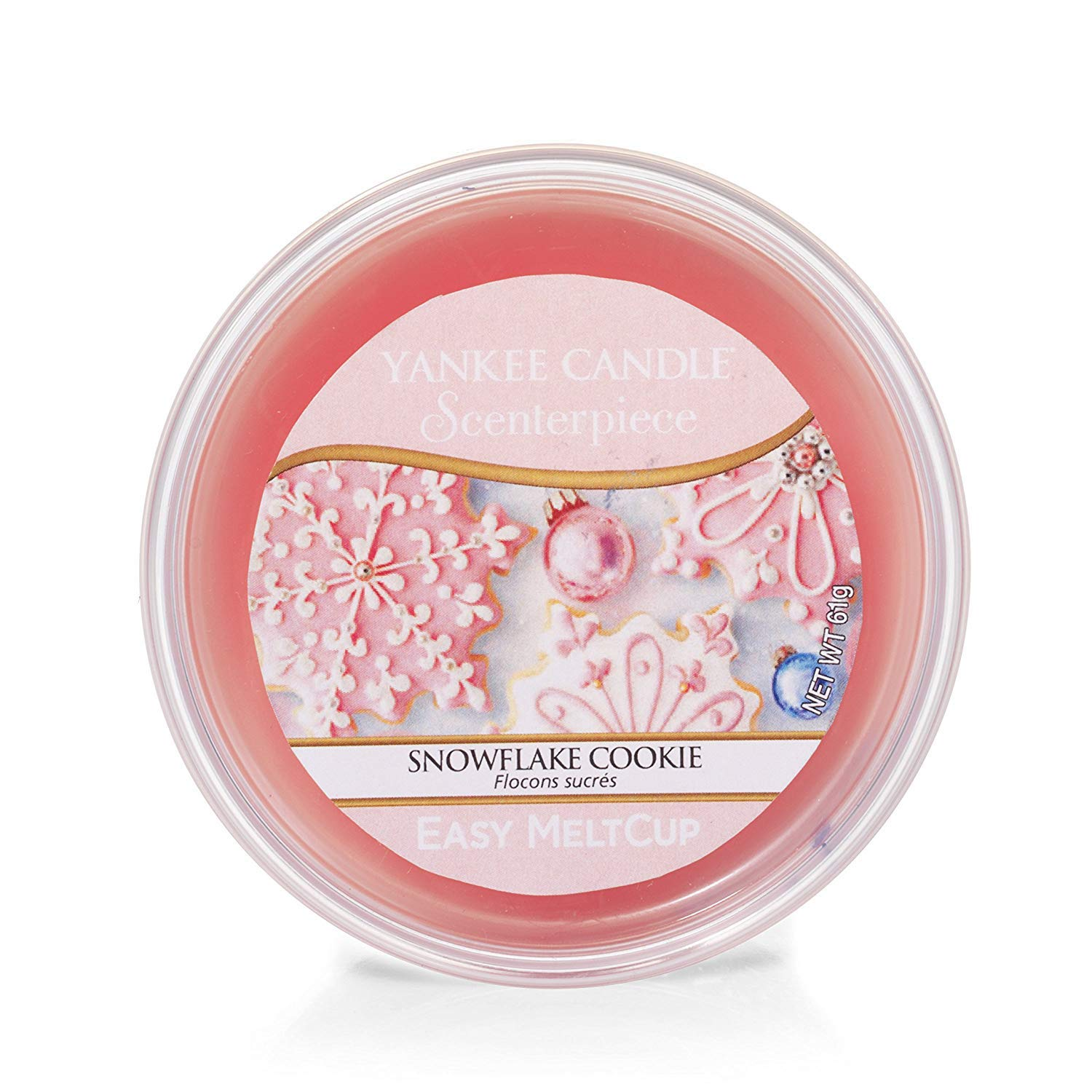 Rosa YANKEE CANDLE Snowflake Cookie Scenterpiece per Cialde Melt