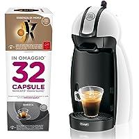 DeLonghi Piccolo EDG100.W Independiente Semi-automática Máquina de café en cápsulas 0.6L Negro, Blanco - Cafetera (Independiente, Máquina de café en cápsulas, 0,6 L, Cápsula de café, 1460 W, Negro, Blanco)