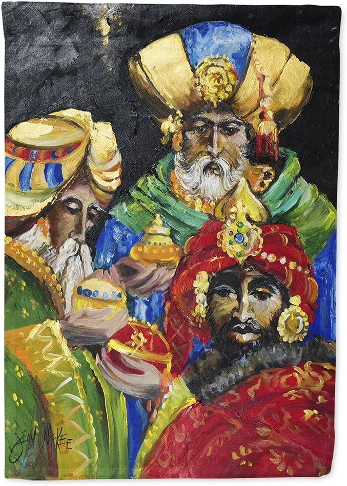 Caroline's Treasures JMK1177CHF The Three Wise Men Flag Canvas House Size, Large, Multicolor