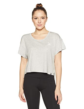 ea421a57a2480a Puma Women s Archive Logo Cropped Tee T-Shirt  Amazon.co.uk  Sports ...