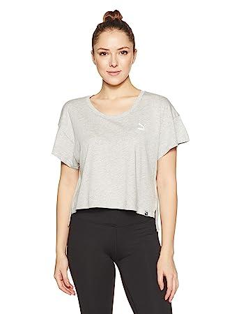 1045f17d801 Puma Women's Archive Logo Cropped Tee T-Shirt: Amazon.co.uk: Sports ...