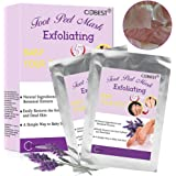 Foot Peel Mask, Foot Mask, Exfoliating Socks, 2 Pairs Lavender Foot Peeling Mask, Exfoliating Calluses and Dead Skin Remover, Repair Rough Heels, Baby Your Feet Naturally