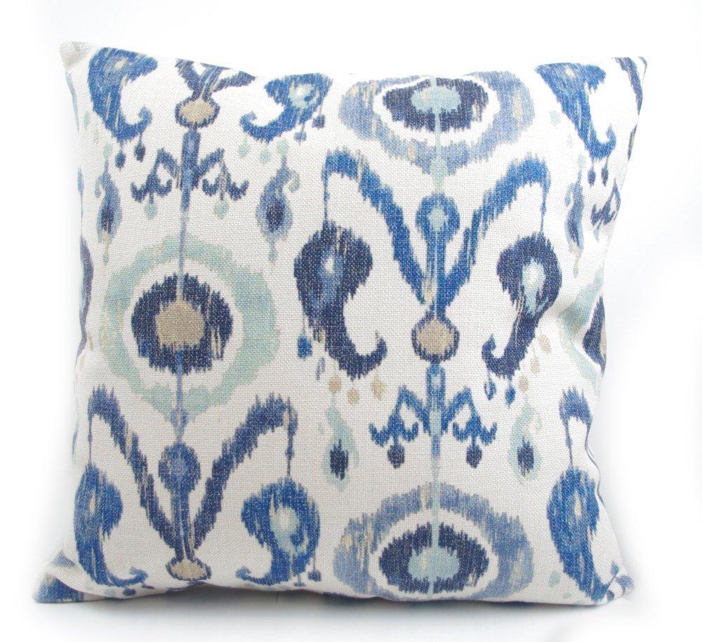 Fresh Blue Vintage Ikat Pillow Case