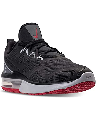 cc94423840223 Nike Mens Air Max Fury Low Top Lace Up Running, Black/Black-Gym Red, Size  6.5