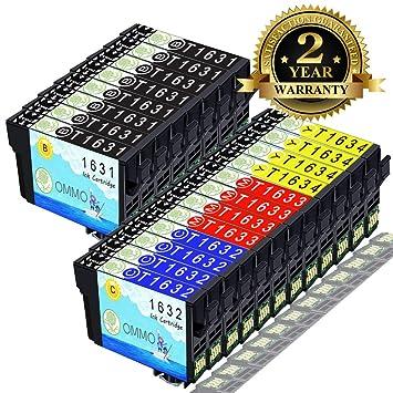 Tinten Patronen für Epson Workforce WF 2650DWF T1631 1632 1633 1634 100/% komp.
