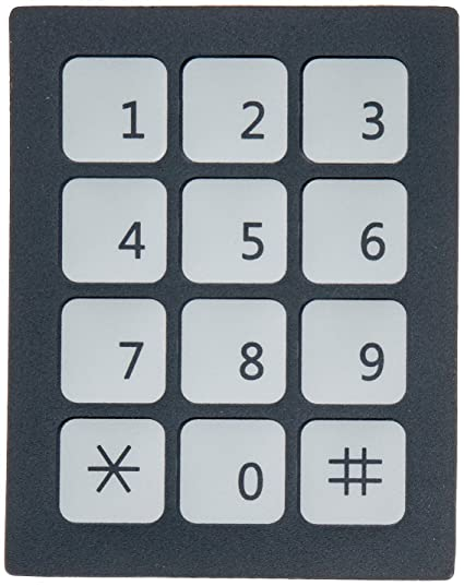 DC 12V 3x4 12 Key Matrix Membrane Switch Keypad Keyboard 76x60x0 8mm