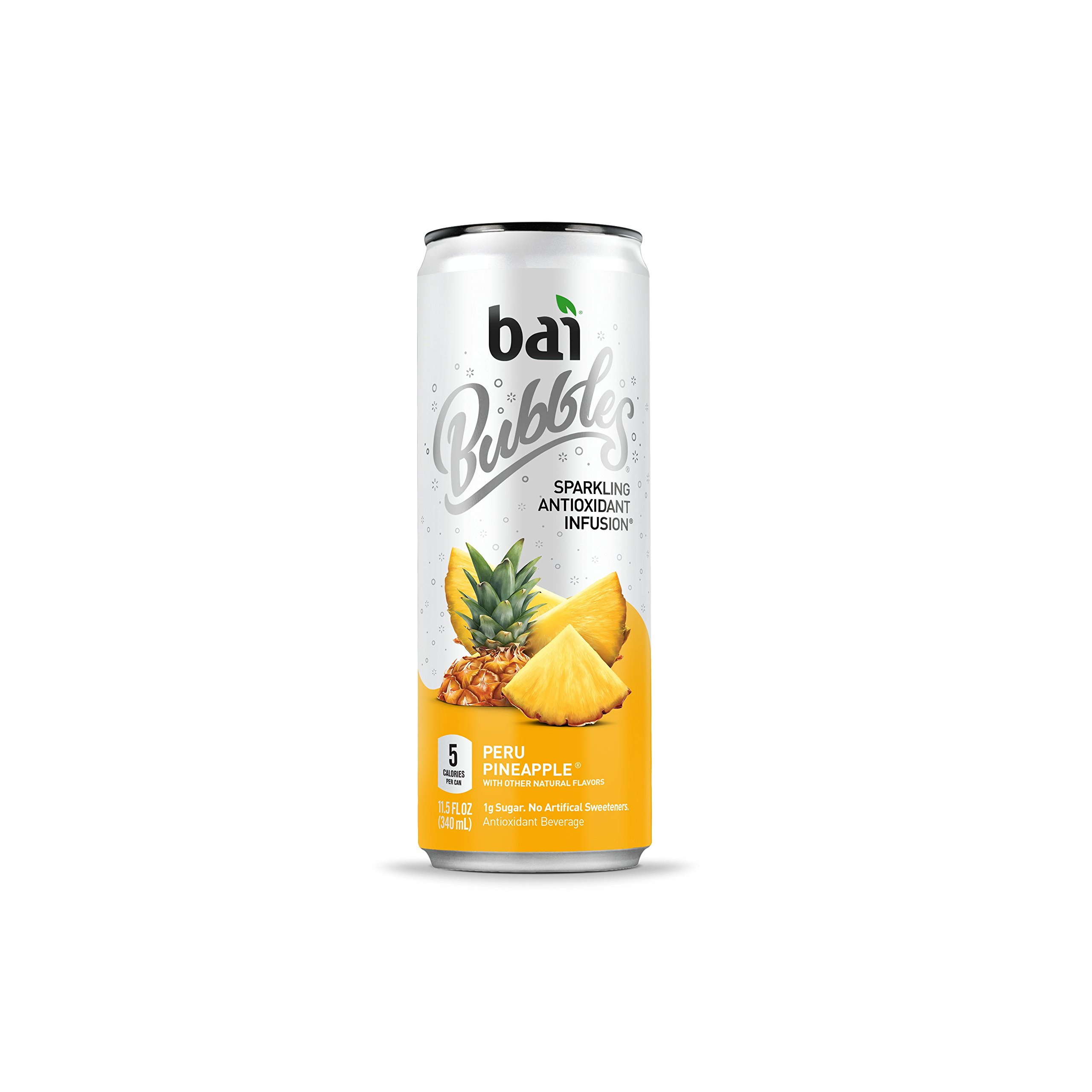 Bai Bubbles Peru Pineapple, Antioxidant Infused, Sparkling Water Drinks, 11.5 Fluid Ounce Cans, 12 count (Packaging May Vary)