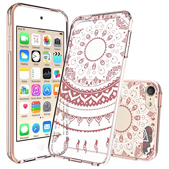 100% authentic 8092b aaefd iPod Touch 6/6th Generation Case,iPod Touch 5/5th Generation Case  Clear,with HD Screen Protector, AnoKe Mandala Flower Acrylic TPU Girls Slim  Fit ...