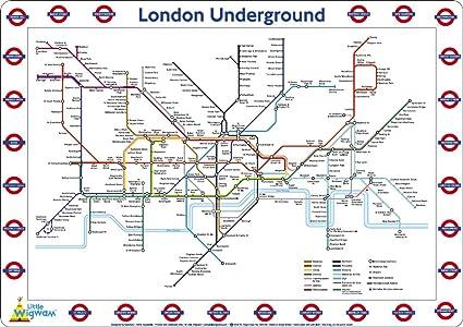 Little Wigwam London Underground Map Placemat Amazon Co Uk Kitchen