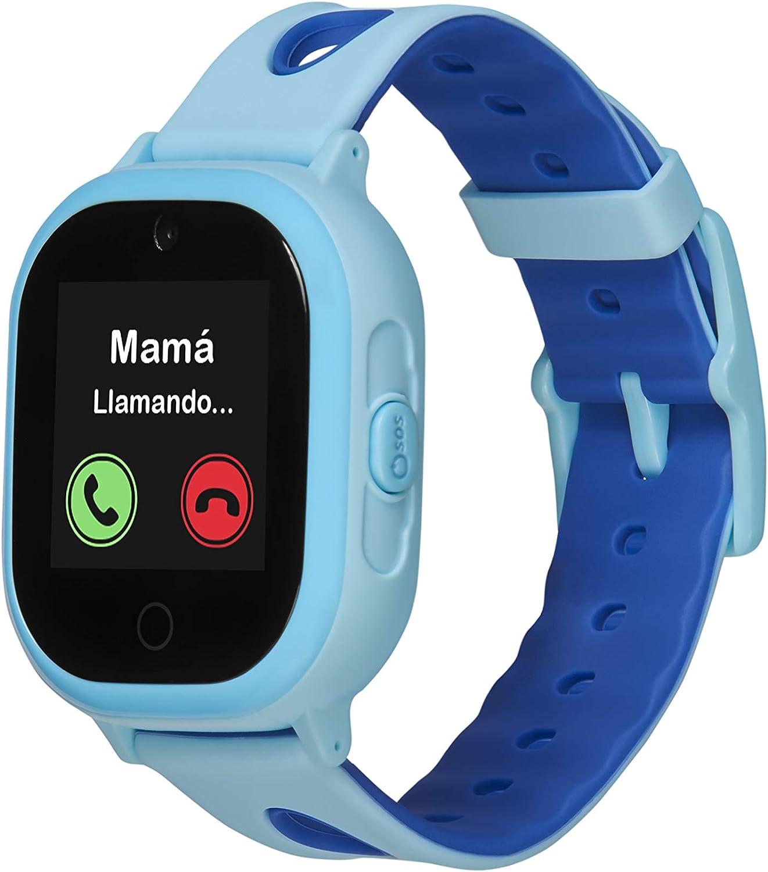 Smartwatch GPS para niños OkyWatch con localizador y teléfono, Resistencia al Agua, Cámara Selfie, SOS, Llamadas y Mensajes, Reloj GPS con Ranura para Tarjeta SIM, Compatible con iOS/Android.