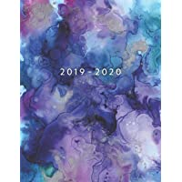 2019 - 2020: Weekly Planner Starting August 2019 - July 2020 | Week To View With Hourly Schedule | 8.5 x 11 Dated Agenda | Appointment Calendar | Organizer Book | Watercolor