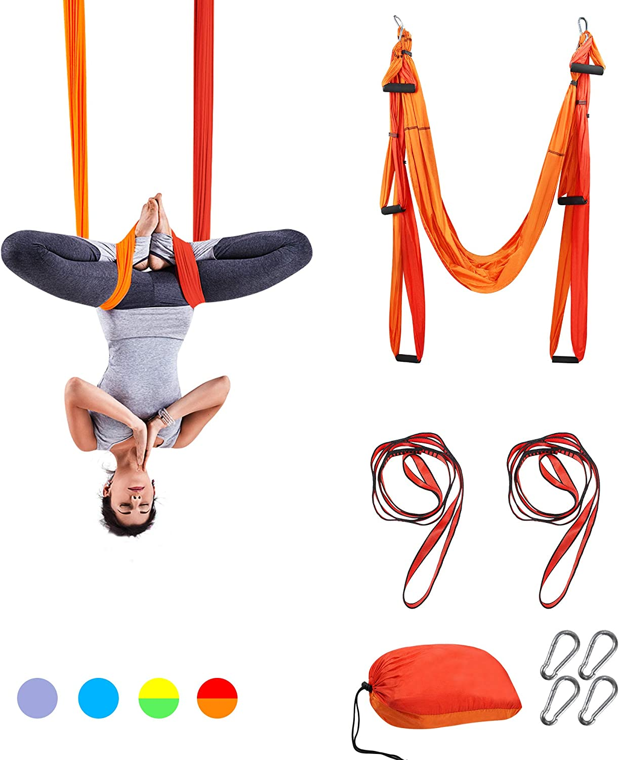 Details about  /Aerial Yoga Swing Trapeze Set Yoga Sling Hammock-gravity Inversion Fitness,Green