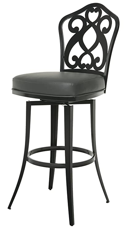 Incroyable Impacterra Pastel Furniture Orbit Swivel Barstool, 26u0026quot;, Gray/Matte  Black