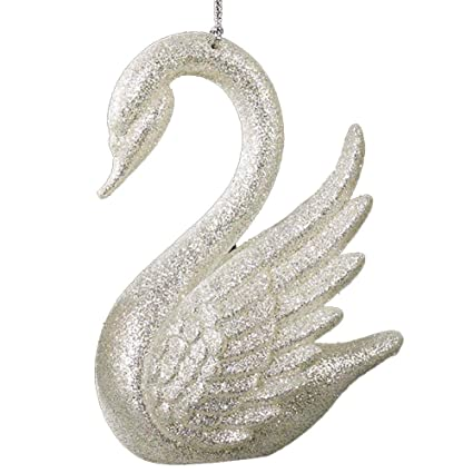 Swan Ornament Silver White by Kurt Adler Christmas Ornaments - Amazon.com: Swan Ornament Silver White By Kurt Adler Christmas