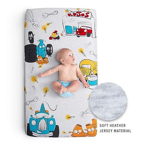 Amazon.com: JumpOff Jo - Sábana para cuna de bebé, 100 ...