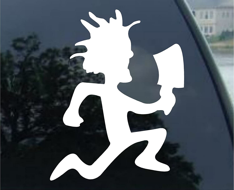 "SoCoolDesign Hatchet Couple Car Truck Laptop Sticker Decal 5"" Tall (White)"