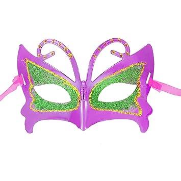 Verde brillantes Accent fucsia de mariposa en forma de traje de baño de diseño de máscara