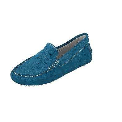 44aaed742e9b Linea Scarpa Mokassin Cadiz Summer Damen Leder  Größe  37   Farbe  Blau