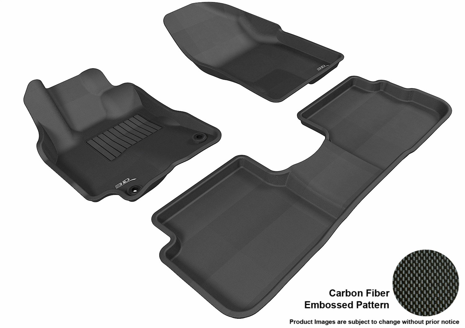 Tan 3D MAXpider Second Row Custom Fit All-Weather Floor Mat for Select Pontiac Vibe Models Kagu Rubber L1PA00121502