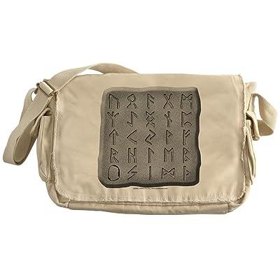 e38deb95799f CafePress - Stone Carved Runes - Unique Messenger Bag, Canvas ...