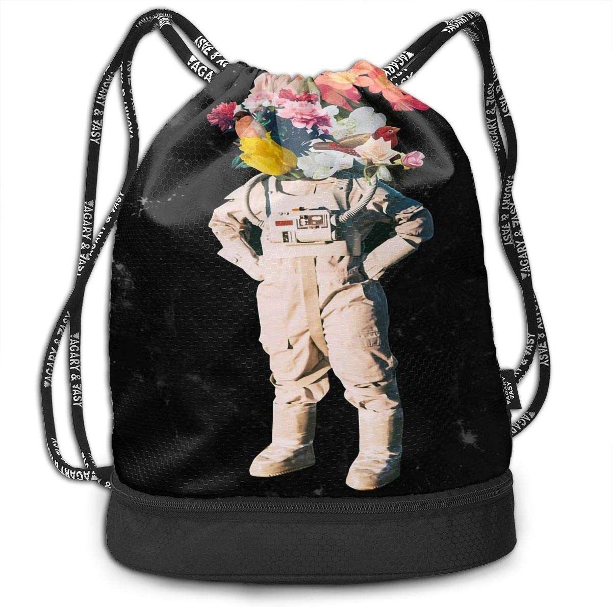 Drawstring Backpack Astronaut Space Galaxy Rucksack