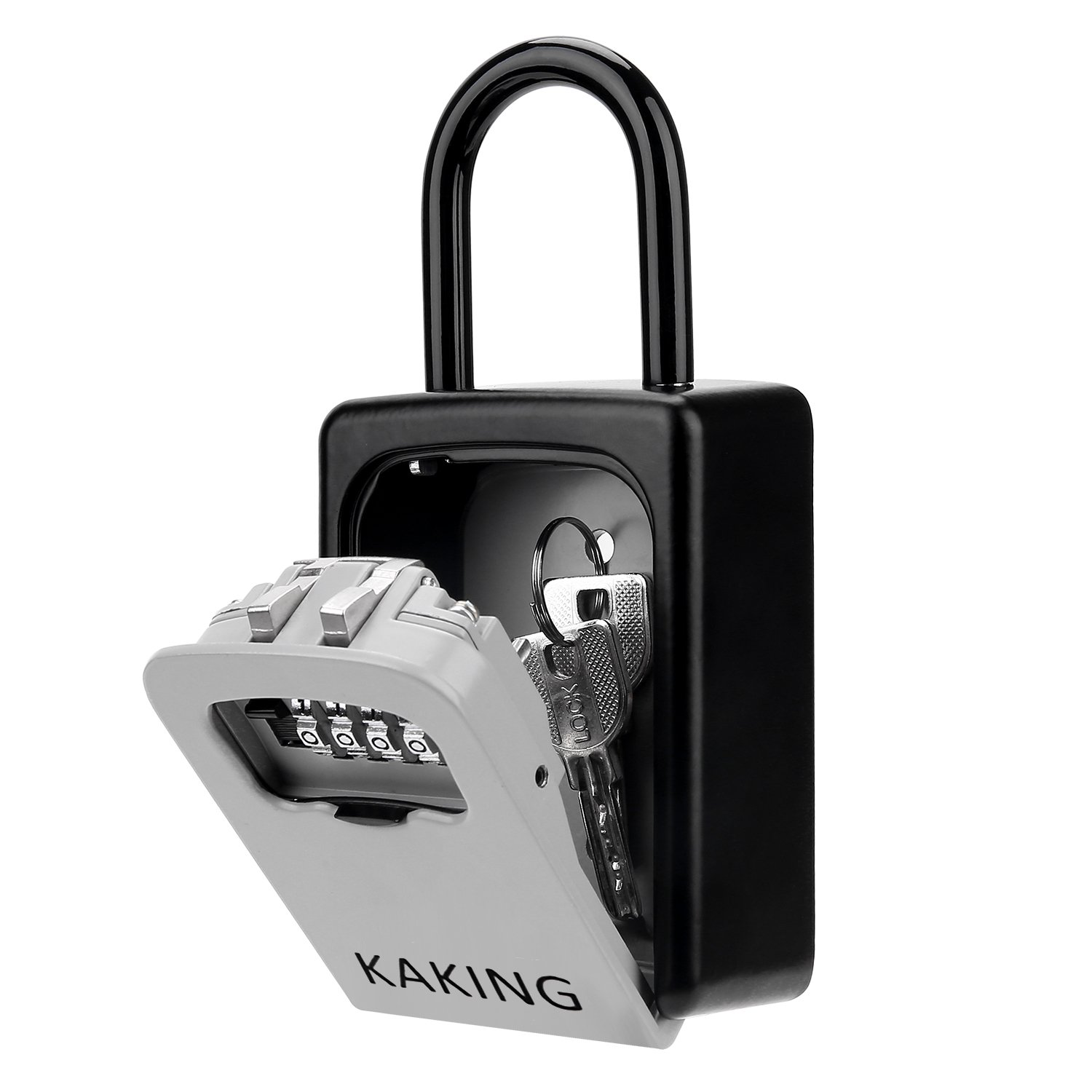 Front Door Lock Box with 4-Digit Combination for Realtor Construction Seniors Family and Friends by KAKING