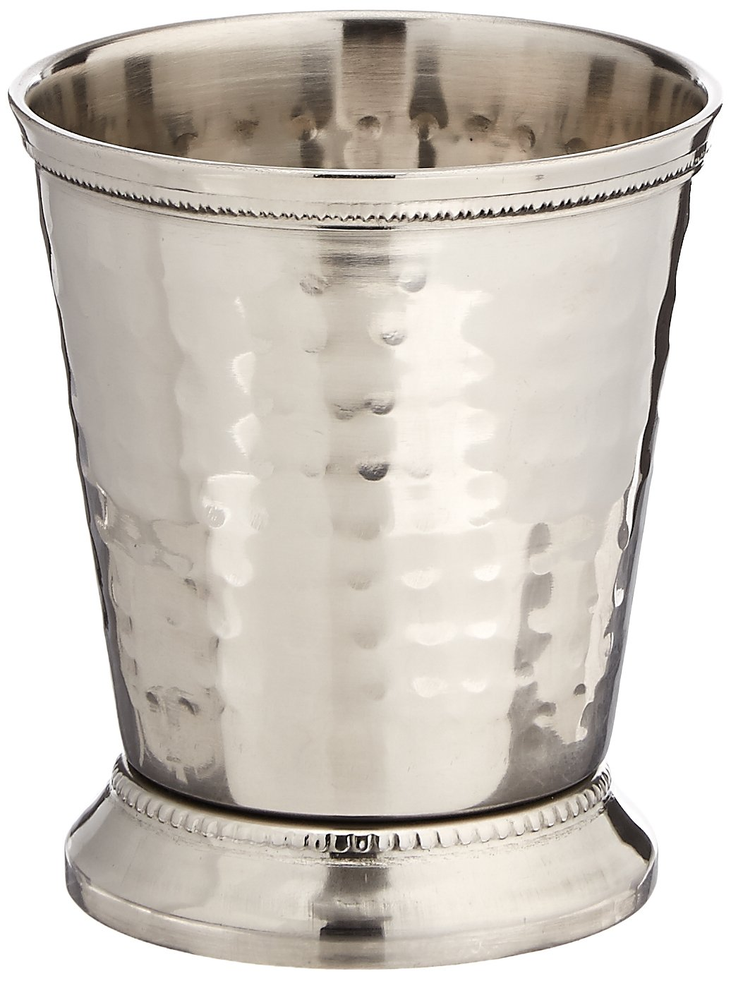 Elegance 10 oz Hammered Mint Julep Cup, Medium, Silver
