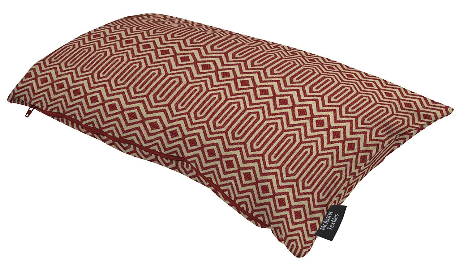 McAlister Textiles Colorado Filled Pillow Red Aztec Geometric Tribal Decorative Throw Scatter Sofa Cushion Sham Size – 12 x 20 Inches