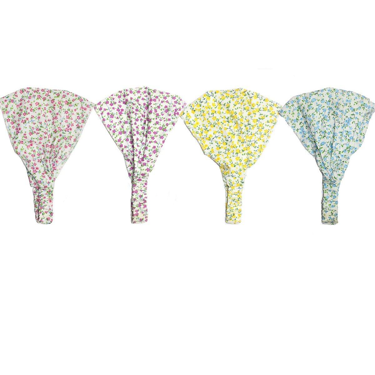 Pack 4 Butterme beaux b/éb/és tout-petits bandeau cheveux /élastique fleur bande de cheveux imprim/é headwrap foulard bandeau nouveau-n/é accessoires pour b/éb/é
