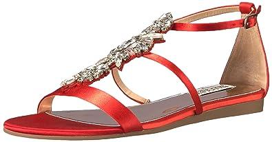 4e39c495b Amazon.com | Badgley Mischka Women's Barstow Flat Sandal | Flats