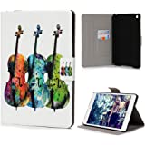 iPad mini 1 2 3 Case ,KASOS iPad mini 1 2 3 Hülle Einschlaf/Aufwach ,Ständer Funktion und Einstellbarem Blickwinkel Funktion Handyhülle Schutzhülle Etui Abdeckung Tasche Bunt Gemalt Magnetverschluss Ledertasche Cover,Gitarre